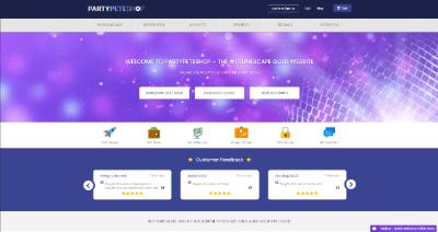 partypeteshop website